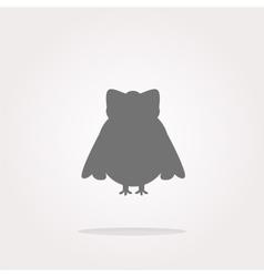 Owl - icon web button isolated Web Icon vector