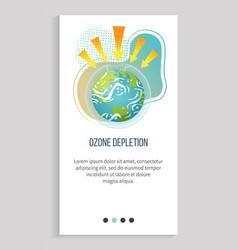 ozone depletion earth app slider vector image