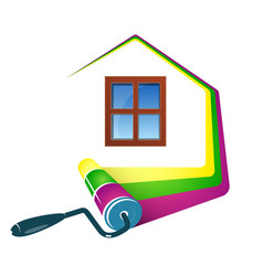 painting home design vector image
