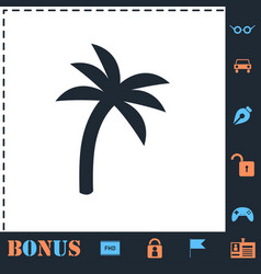 Palm icon flat vector