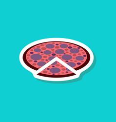 Paper sticker pizza vector