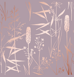 Pattern with wildflowers imitating surface of vector