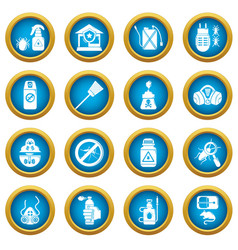 Pest control tools icons set simple style vector