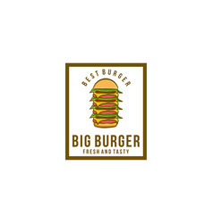 pile of burger burger logo vector image