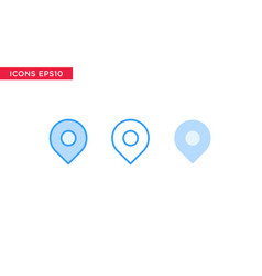 place check point message icon in line outline vector image