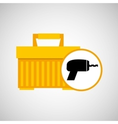 Portable tool box drill icon vector