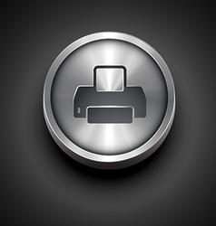 Printer metallic icon vector