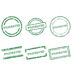 Processed stamps vector image vector image