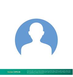 Profile avatar icon logo template design eps 10 vector