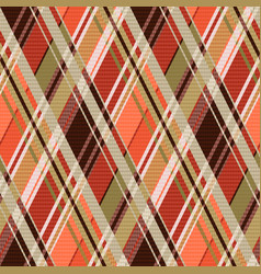 rhombic tartan seamless texture mainly in brown vector image