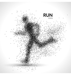 Running man dots Sport modern vector