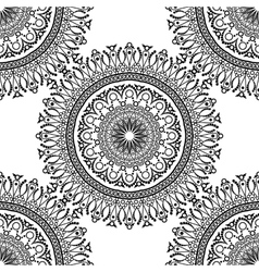 Seamless pattern Mandala with decorative ornament vector