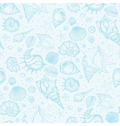 Seamless pattern of Sea shells vector image