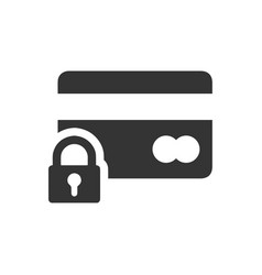 Secured payment icon vector