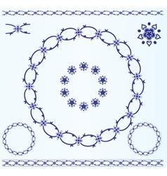 Set of rustic circle frames vector image