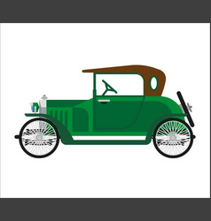 Short green vintage car vector