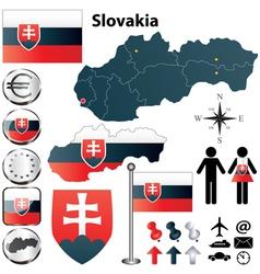 Slovakia map vector image