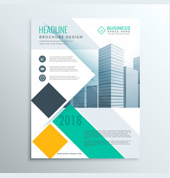 Stylish business brochure flyer template with vector