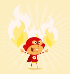Super kid powers vector