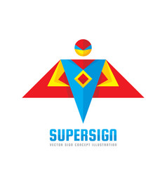 super sign - logo template concept vector image