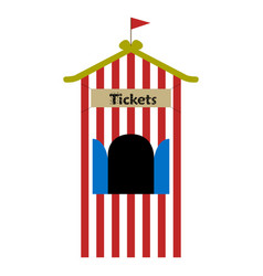ticket shop tent vector image