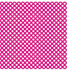 Tile pattern with white polka dots on pastel pink vector