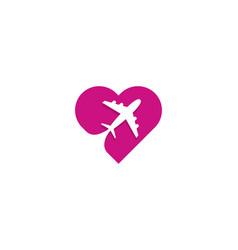 travel love logo icon design vector image