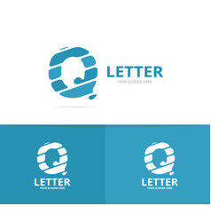 Unique letter q logo design template vector