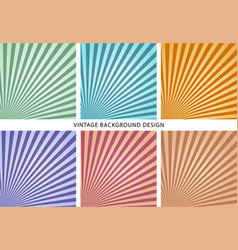 Vintage abstract background set vector