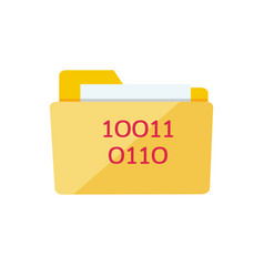 Yellow web folder sign with it data interface vector
