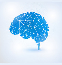 artificial intelligence brain concept with binary vector image vector image