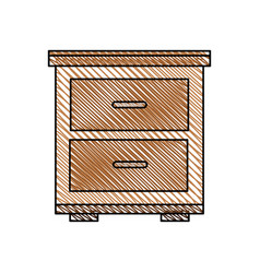 bedside table wooden image vector image