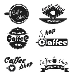 Caffee icons set on a white background vector image vector image