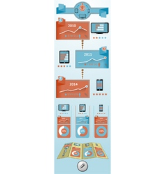 Flat objects infographic vector image vector image
