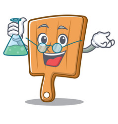 professor kitchen board character cartoon vector image vector image