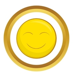 Smiley face icon vector image