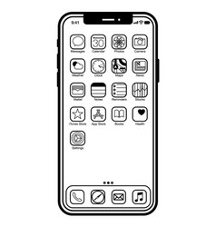 iphone x - image for web or print vector image