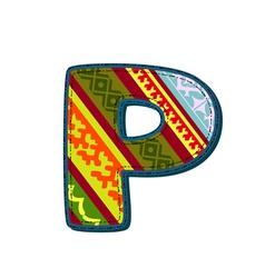ornament p retro vector image