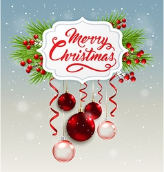 Decorative Christmas banner vector image vector image