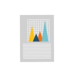 Financial chart report vector image