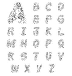 Flowers Alphabet Letters vector image vector image