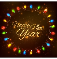 Happy New Year celebration abstract Seasons vector image vector image