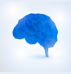 artificial intelligence brain concept with binary vector image