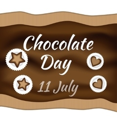 Chocolate day vector image vector image