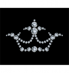 crown and diamonds vector image vector image
