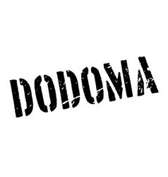 Dodoma rubber stamp vector image vector image