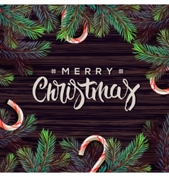 Merry Christmas greeting card with decor vector image