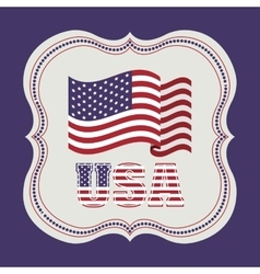 usa emblematic seal design vector image vector image