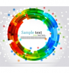 abstract circle background colorful illustration vector image