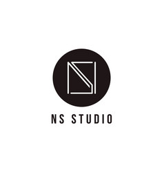 Abstract letter n and s ns sn monogram logo icon vector